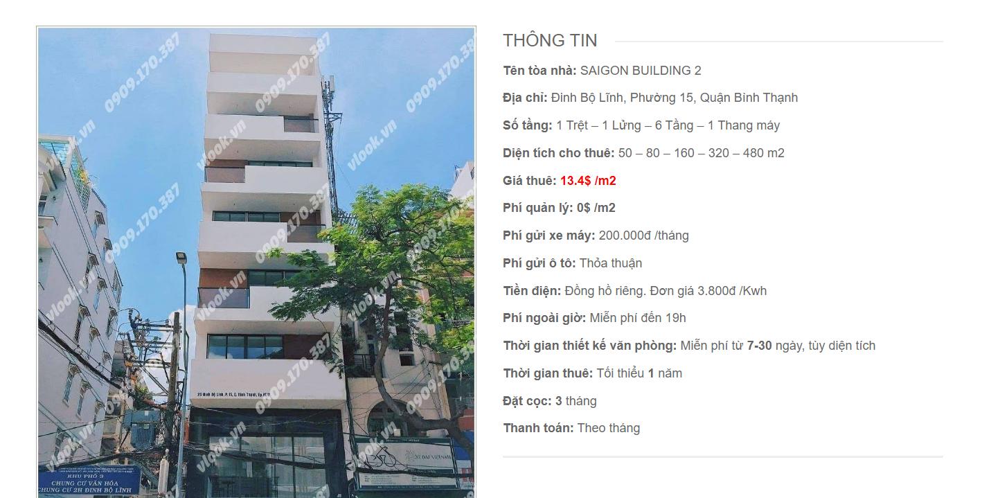 Danh sách công ty tại tòa nhà Saigon Building 2, Đinh Bộ Lĩnh, Quận Bình Thạnh