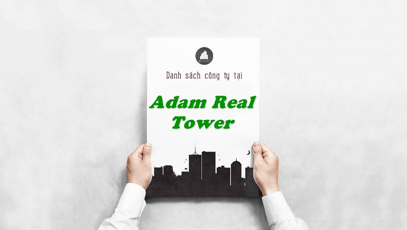 Danh sách công ty thuê văn phòng tại Adam Real Tower, Quận 1