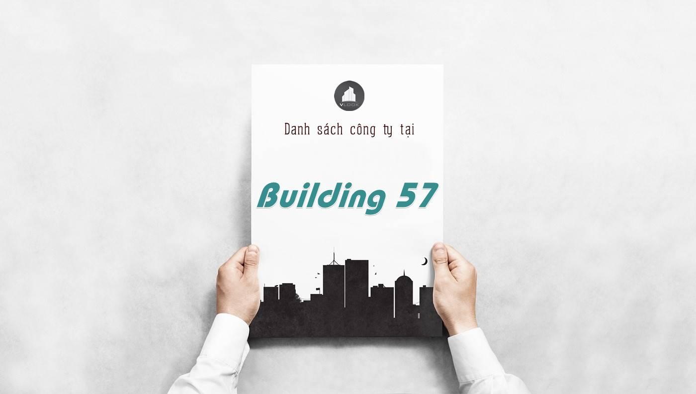Danh sách công ty thuê văn phòng tại Building 57, Quận 1