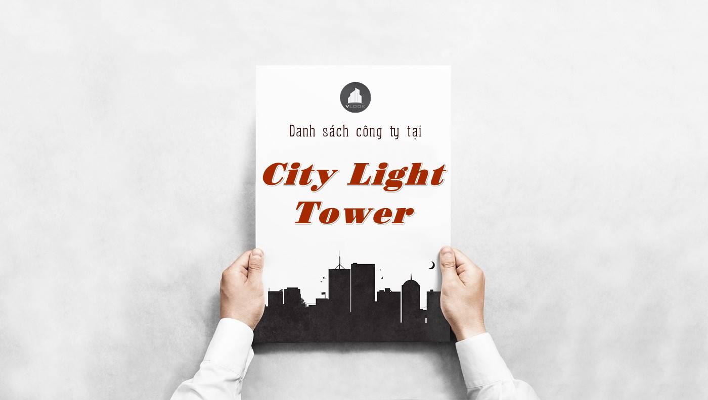 Danh sách công ty thuê văn phòng tại City Light Tower, Quận 1