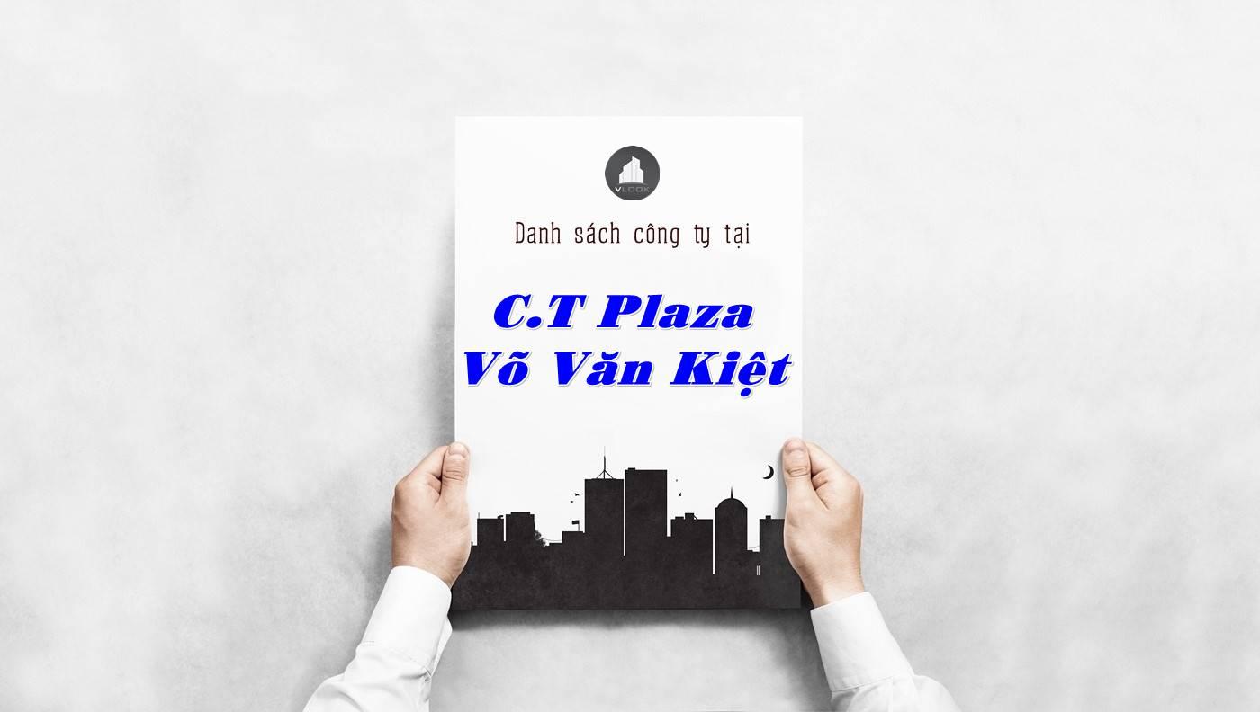 Danh sách công ty thuê văn phòng tại C.T Plaza Võ Văn Kiệt, Quận 1