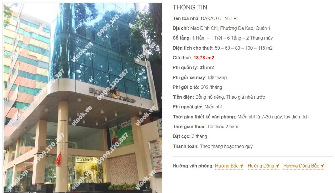 Danh sách công ty thuê văn phòng tại Dakao Center, Quận 1