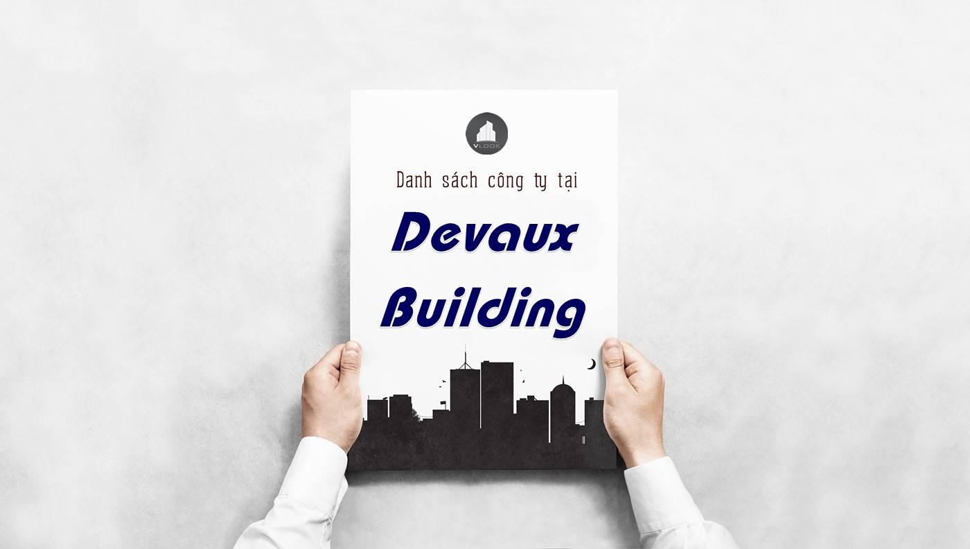 Danh sách công ty thuê văn phòng tại Devaux Building, Quận 1