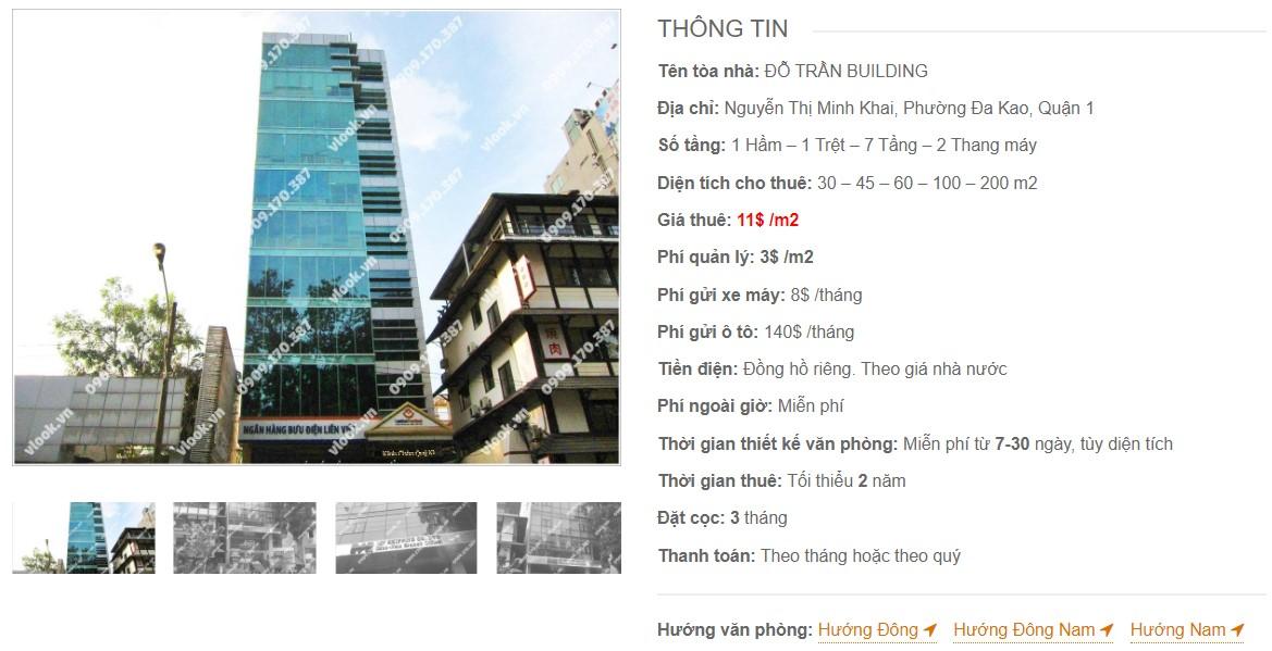 Danh sách công ty thuê văn phòng tại Đỗ Trần Building, Quận 1
