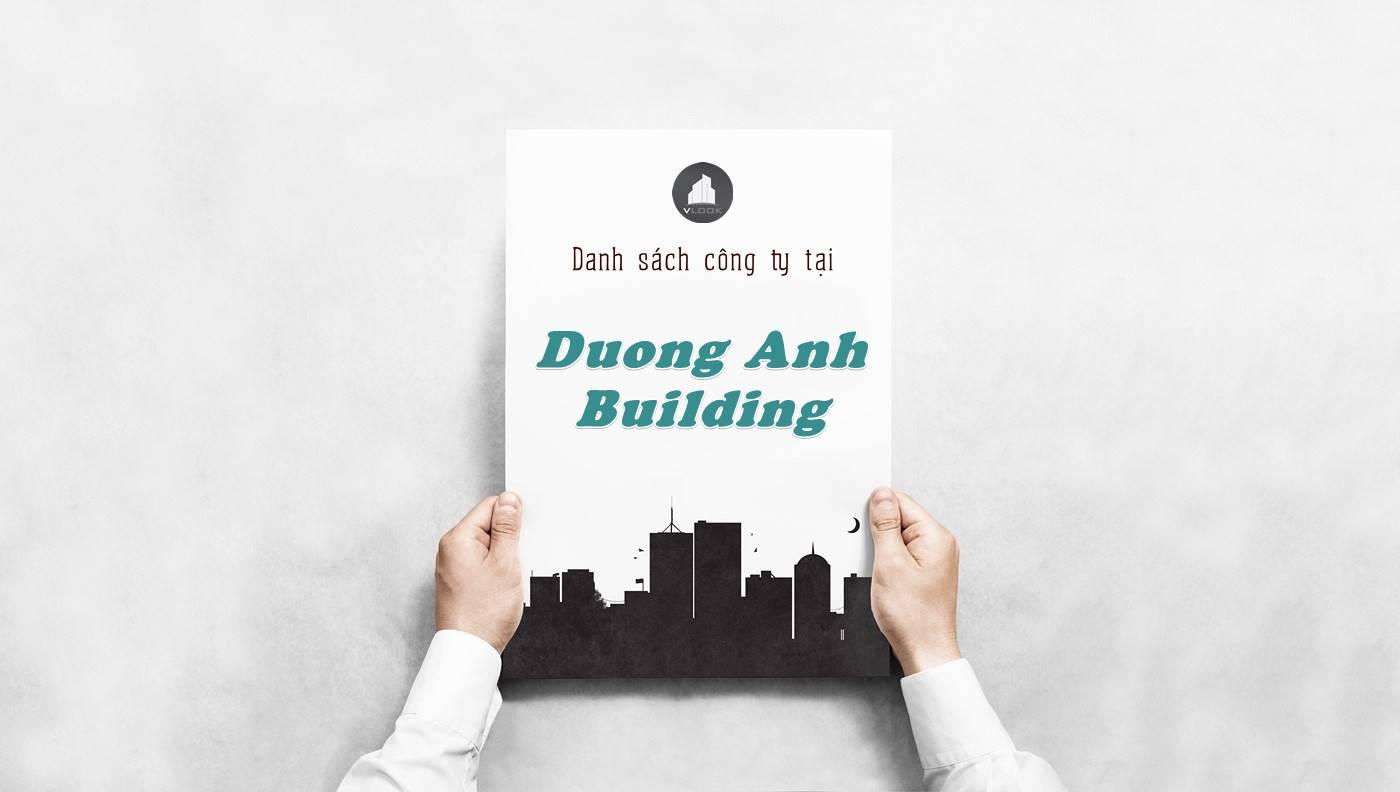 Danh sách công ty tại tòa nhà Dương Anh Building, Quận 1