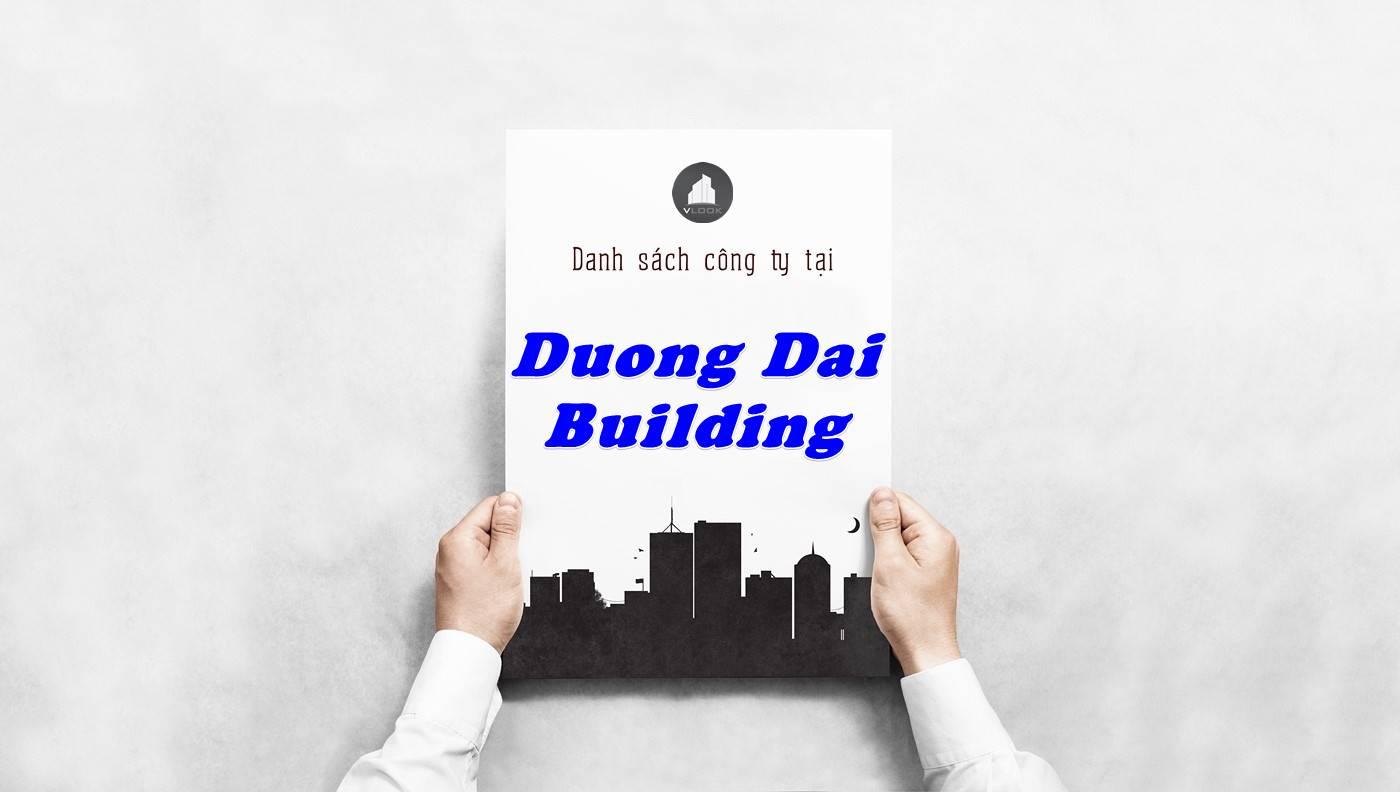 Danh sách công ty thuê văn phòng tại Dương Đại Building, Quận 1