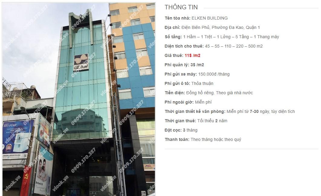 Danh sách công ty thuê văn phòng tại Elken Building, Quận 1