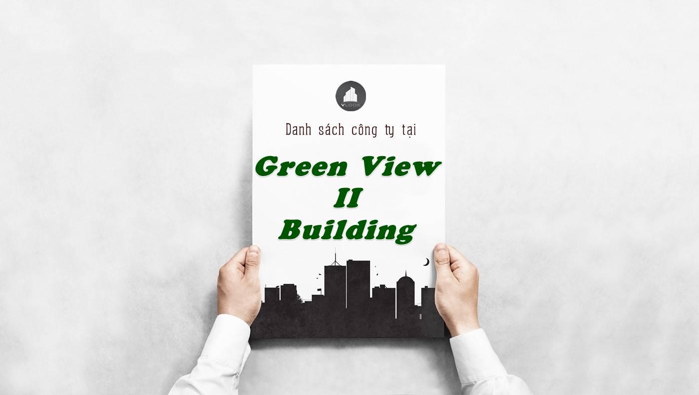 Danh sách công ty thuê văn phòng tại Green View II Building, Quận 1