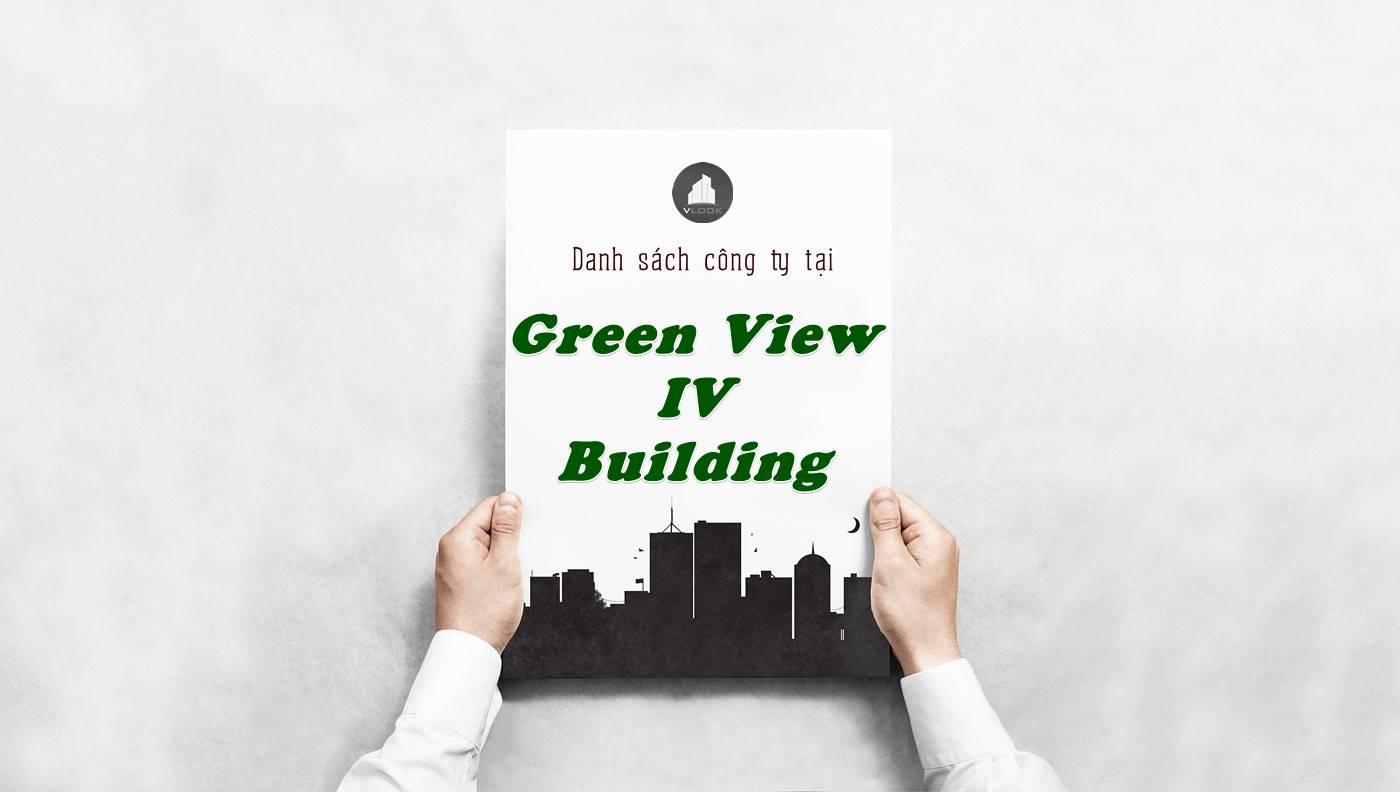 Danh sách công ty thuê văn phòng tại Green View IV Building, Quận 1