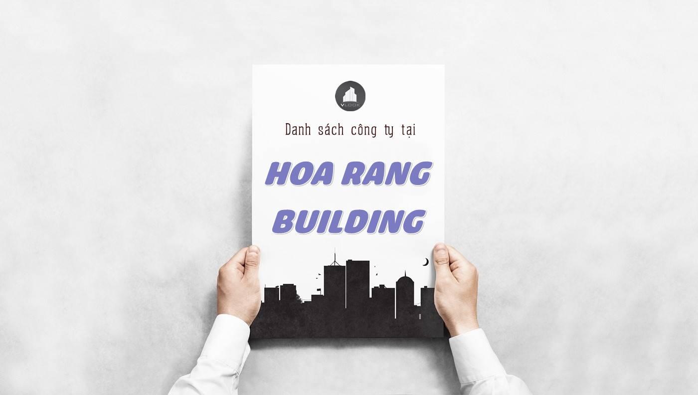 Danh sách công ty thuê văn phòng tại Hoa Rang Building, Quận 1