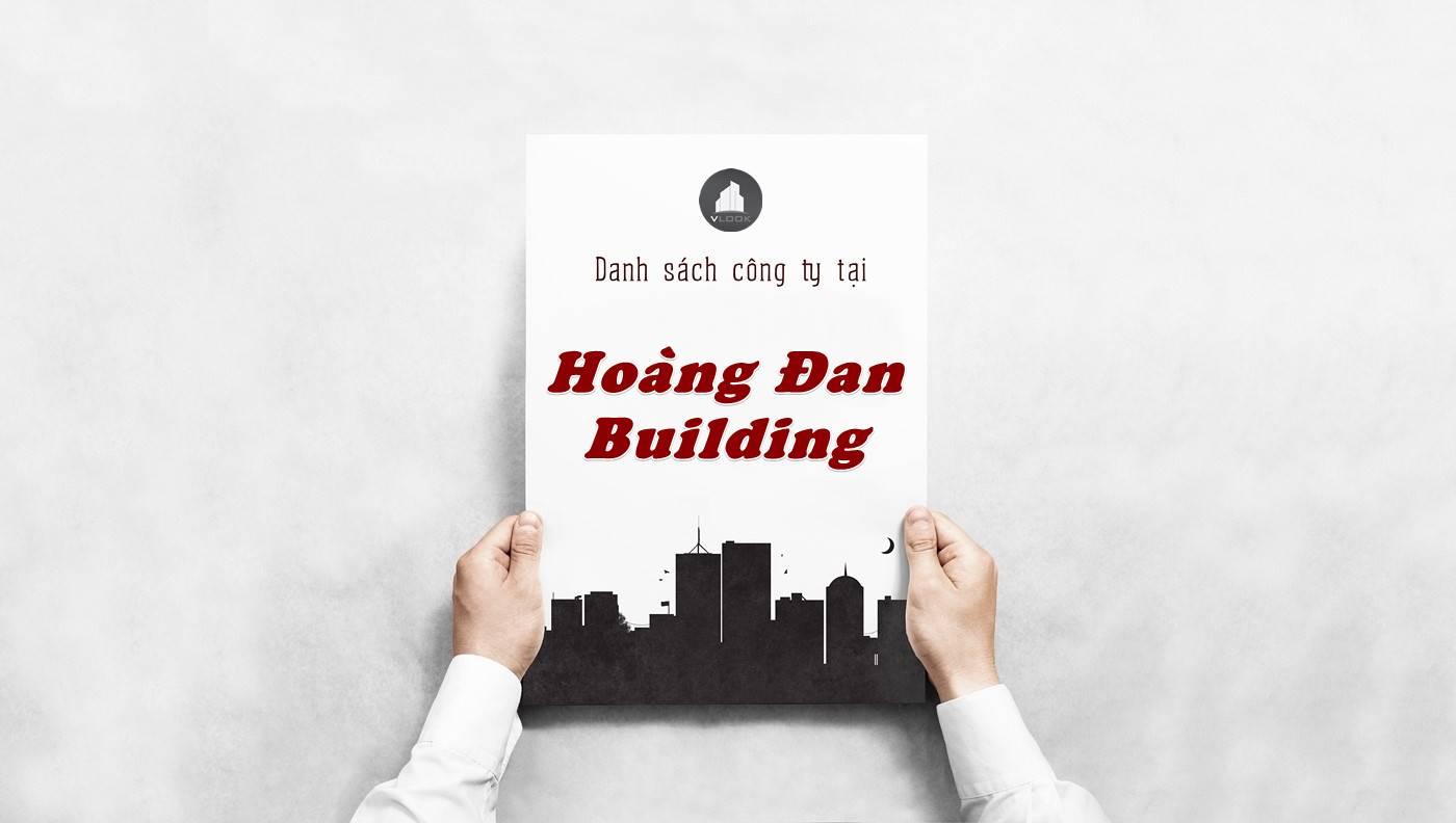 Danh sách công ty thuê văn phòng tại Hoàng Đan Building, Quận 1