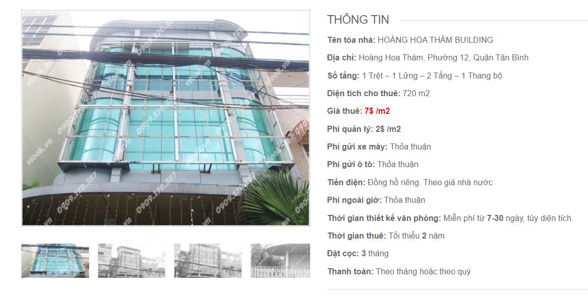 Danh sách công ty tại tòa nhà Hoàng Hoa Thám Building, Hoàng Hoa Thám, Quận Tân Bình