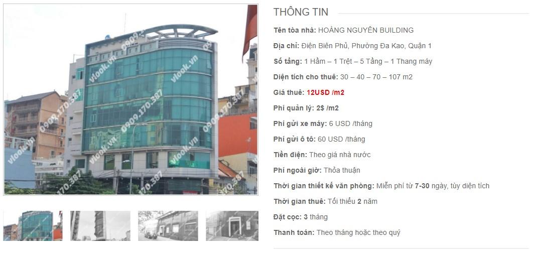Danh sách công ty tại tòa nhà Hoàng Nguyên Building, Quận 1