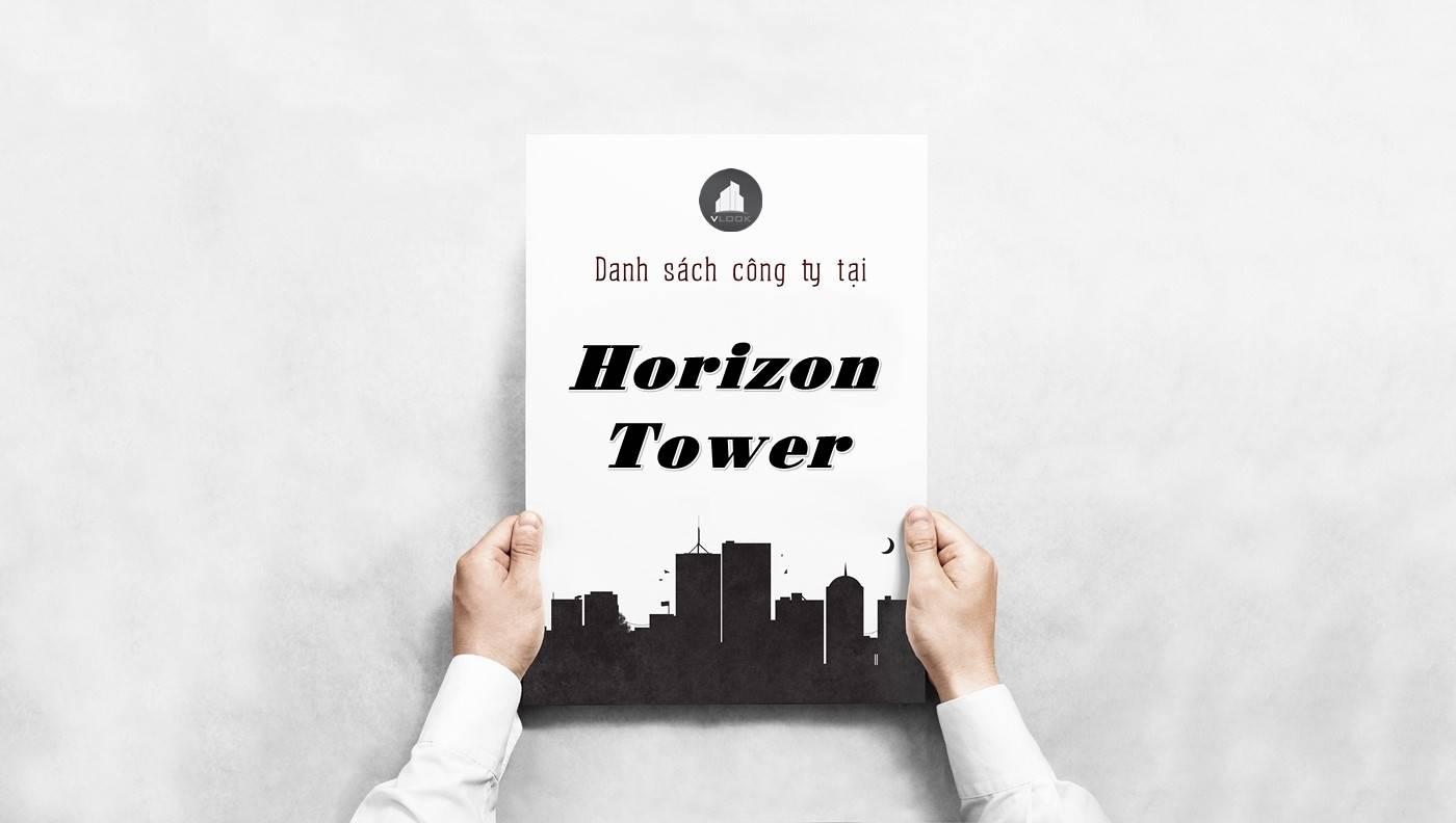 Danh sách công ty thuê văn phòng tại Horizon Tower, Quận 1