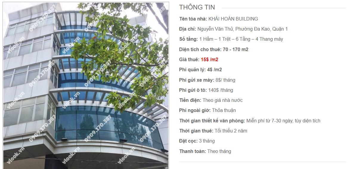 Danh sách công ty thuê văn phòng tại Khải Hoàn Building, Quận 1