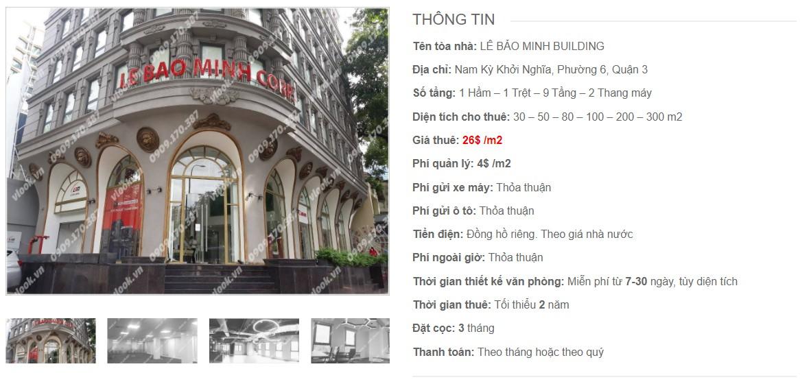 Danh sách công ty tại tòa nhà Lê Bảo Minh Building, Quận 3