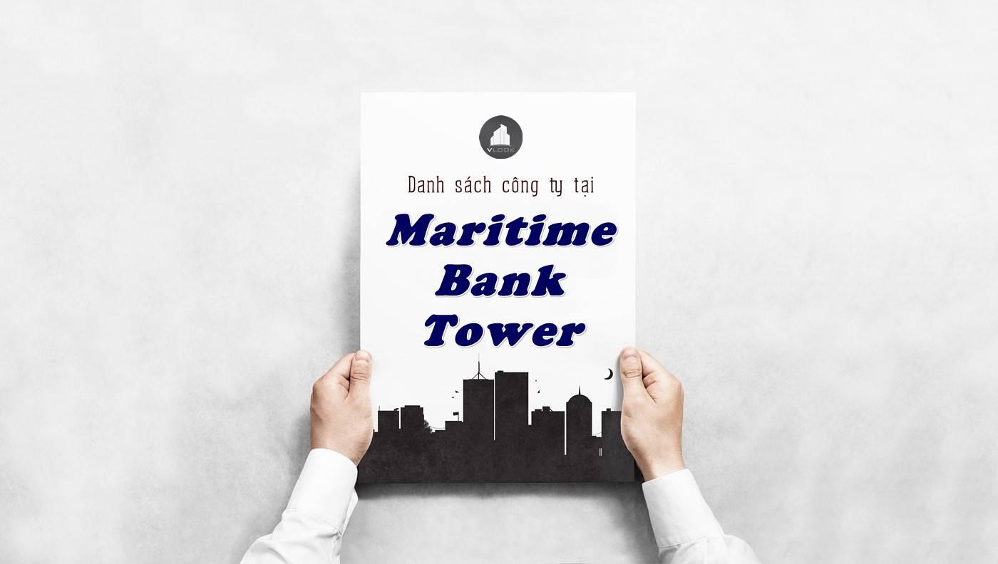 Danh sách công ty thuê văn phòng tại Maritime Bank Tower, Quận 1