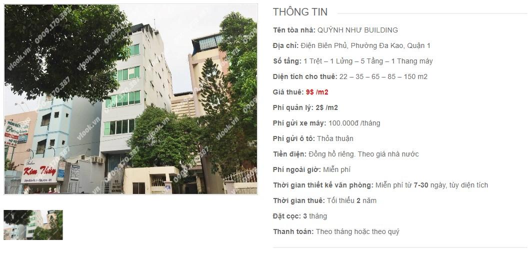 Danh sách công ty thuê văn phòng tại tòa nhà Quỳnh Như Building, Quận 1