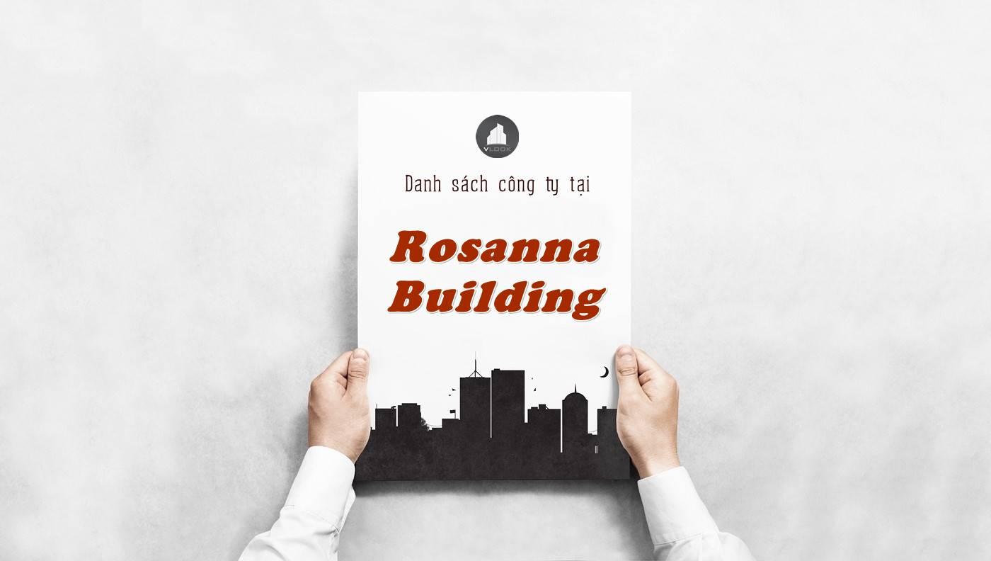 Danh sách công ty thuê văn phòng tại Rosanna Building, Quận 1