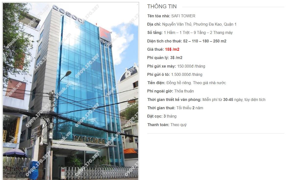 Danh sách công ty thuê văn phòng tại Safi Tower, Quận 1