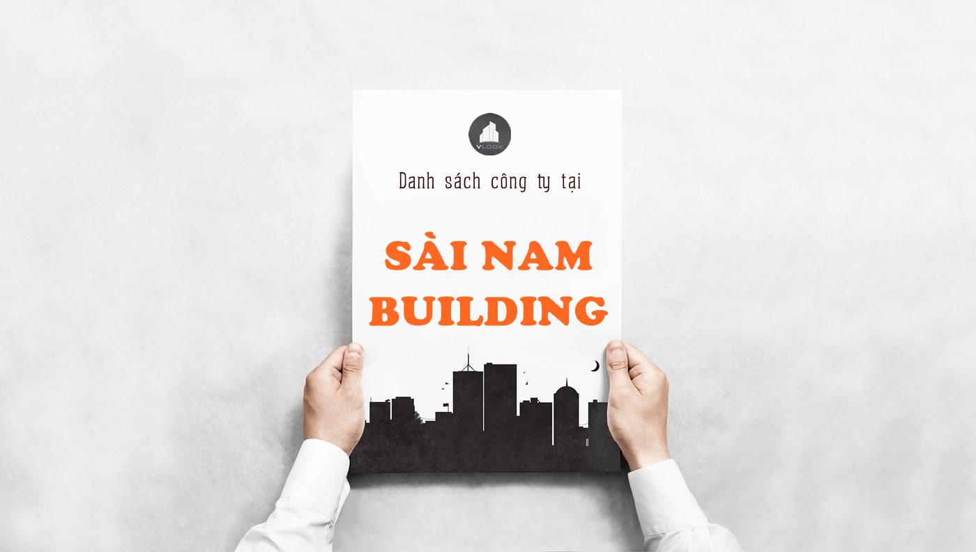 Danh sách công ty tại tòa nhà Sài Nam Building, Trần Văn Dư, Quận Tân Bình