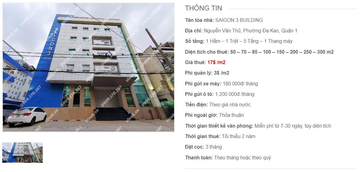 Danh sách công ty thuê văn phòng tại Saigon 3 Building, Quận 1