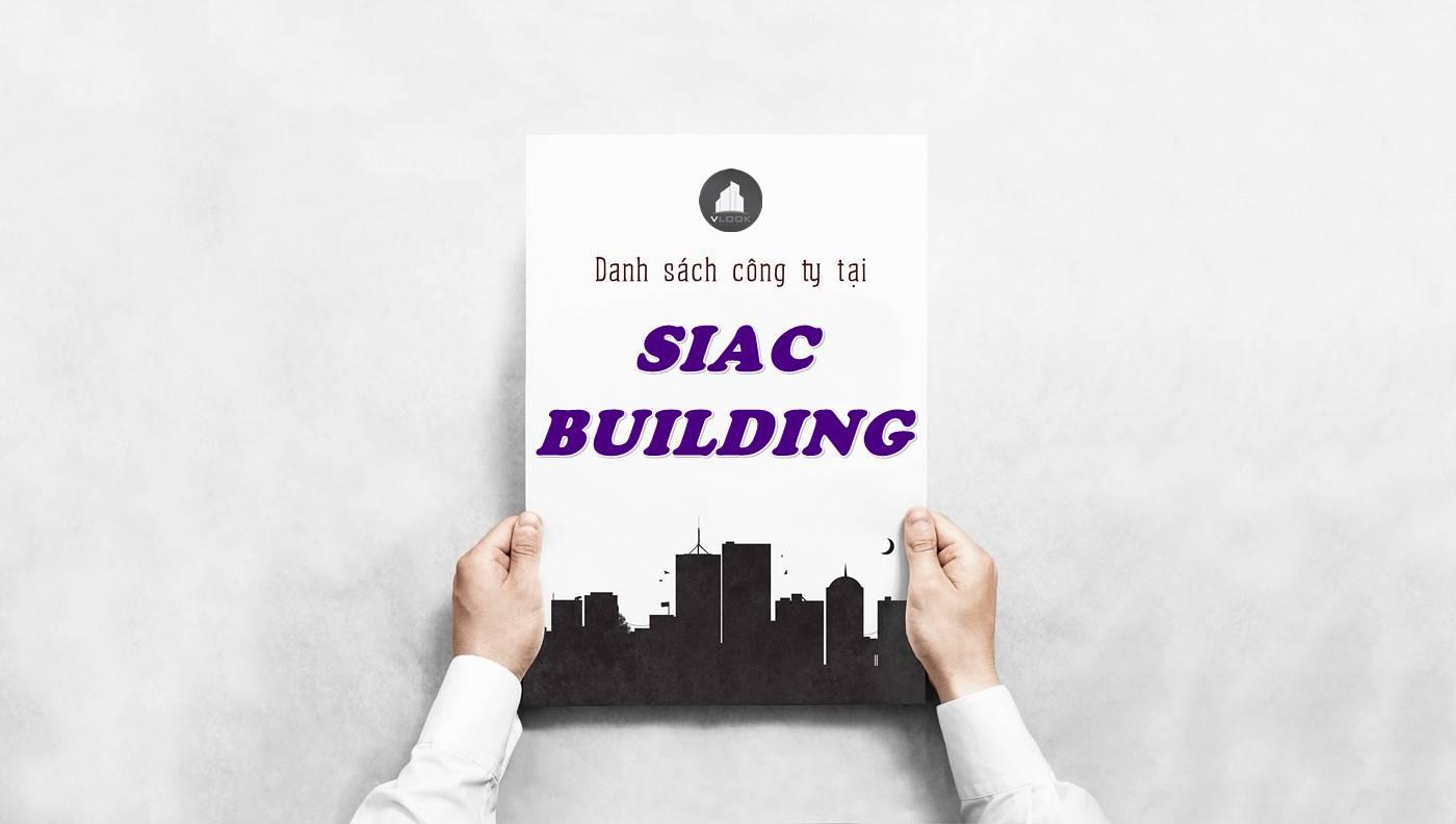 Danh sách công ty thuê văn phòng tại Siac Building, Quận 10