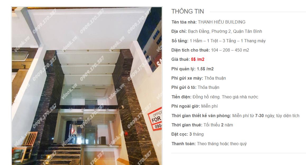 Danh sách công ty tại tòa nhà Thanh Hiếu Building, Bạch Đằng, Quận Tân Bình