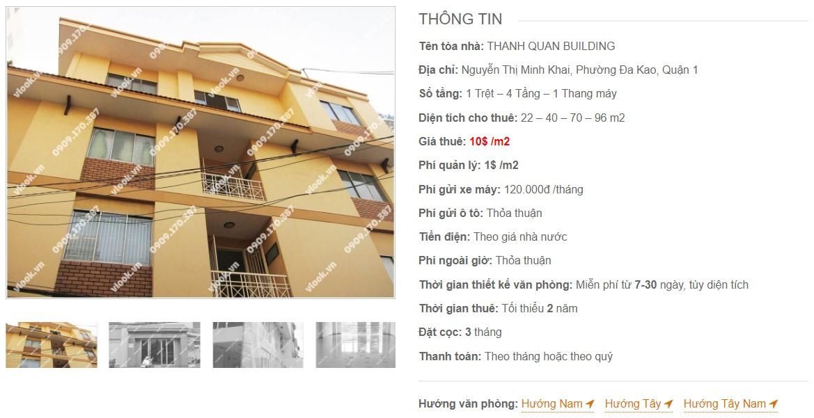 Danh sách công ty thuê văn phòng tại Thanh Quan Building, Quận 1