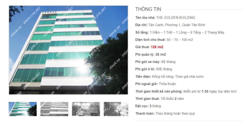 Danh sách công ty tại tòa nhà The Golden Building, Tân Canh, Quận Tân Bình