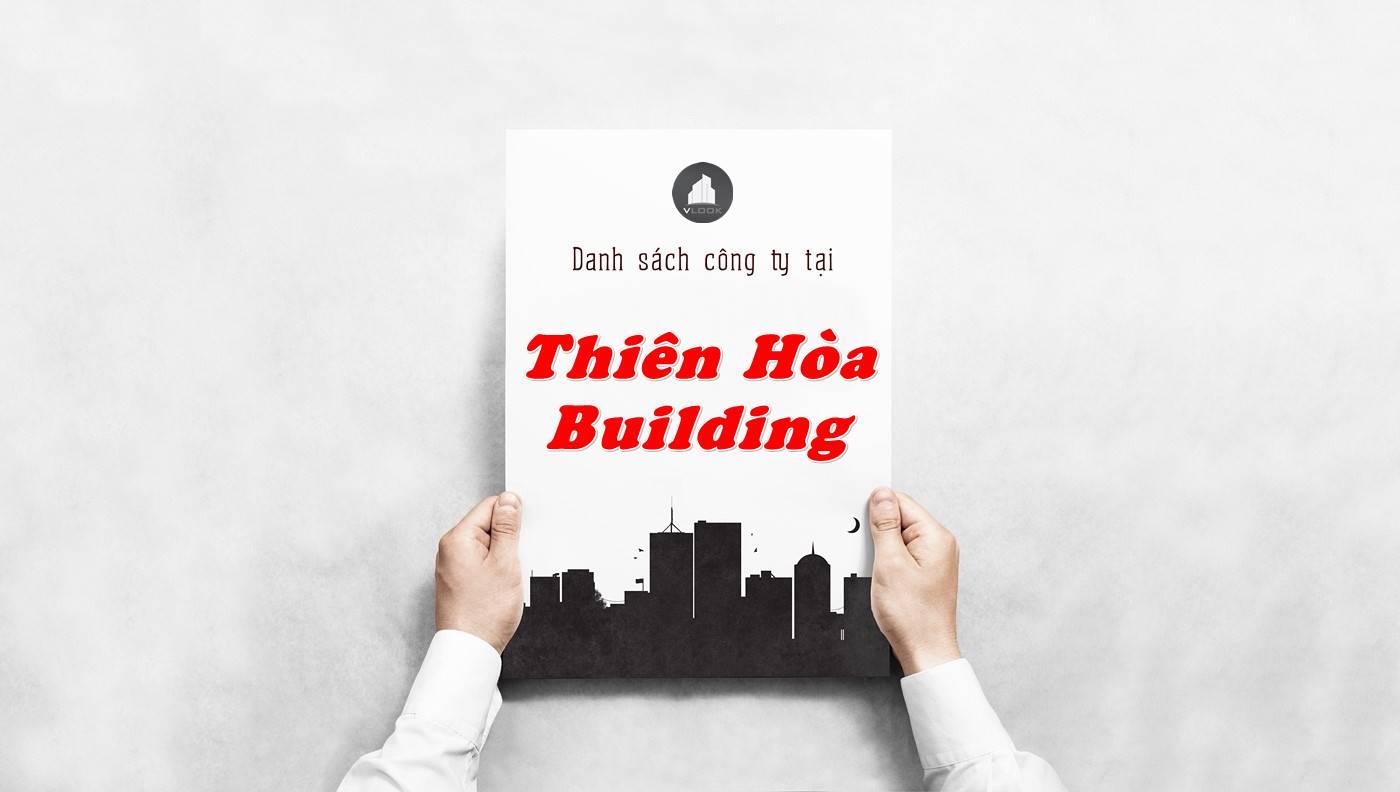 Danh sách công ty thuê văn phòng tại Thiên Hòa Building, Quận 10