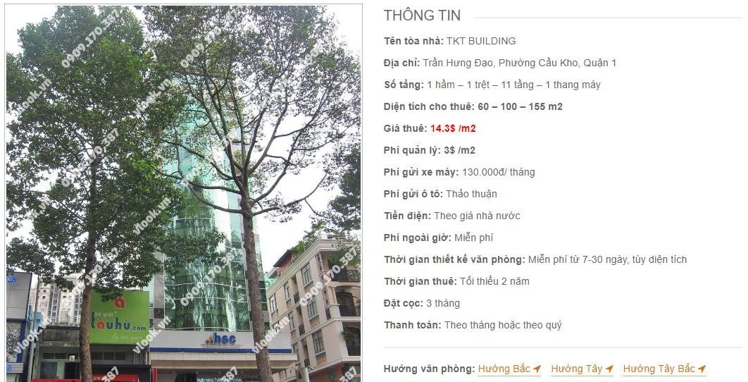 Danh sách công ty thuê văn phòng tại TKT Building, Quận 1