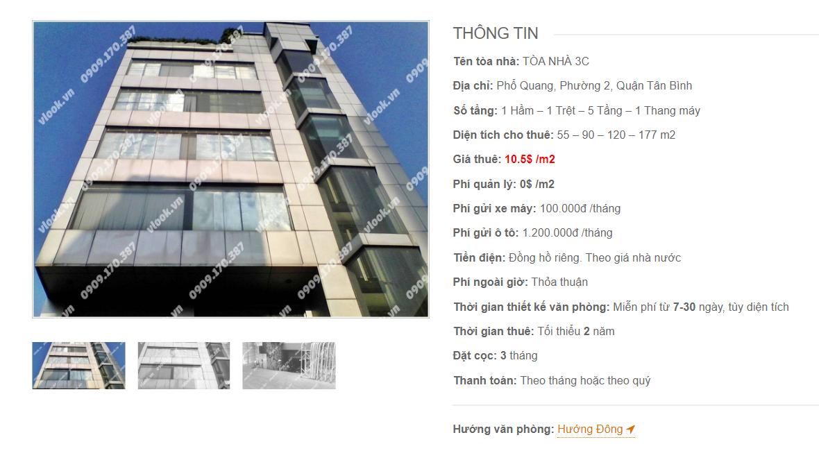 Danh sách công ty tại tòa nhà Tòa nhà 3C, Phổ Quang, Quận Tân Bình