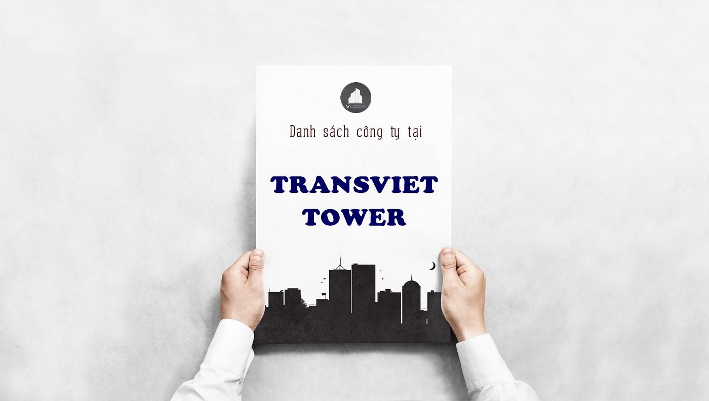 Danh sách công ty tại tòa nhà Transviet Tower, Yên Thế, Quận Tân Bình
