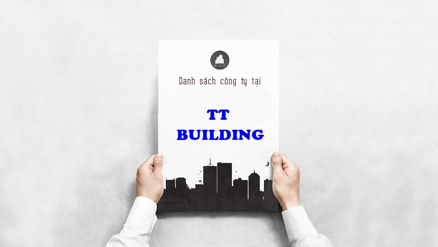 Danh sách công ty tại tòa nhà TT Building, Bạch Đằng, Quận Tân Bình