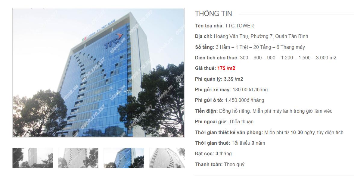 Danh sách công ty tại tòa nhà TTC Tower, Hoàng Văn Thụ, Quận Tân Bình