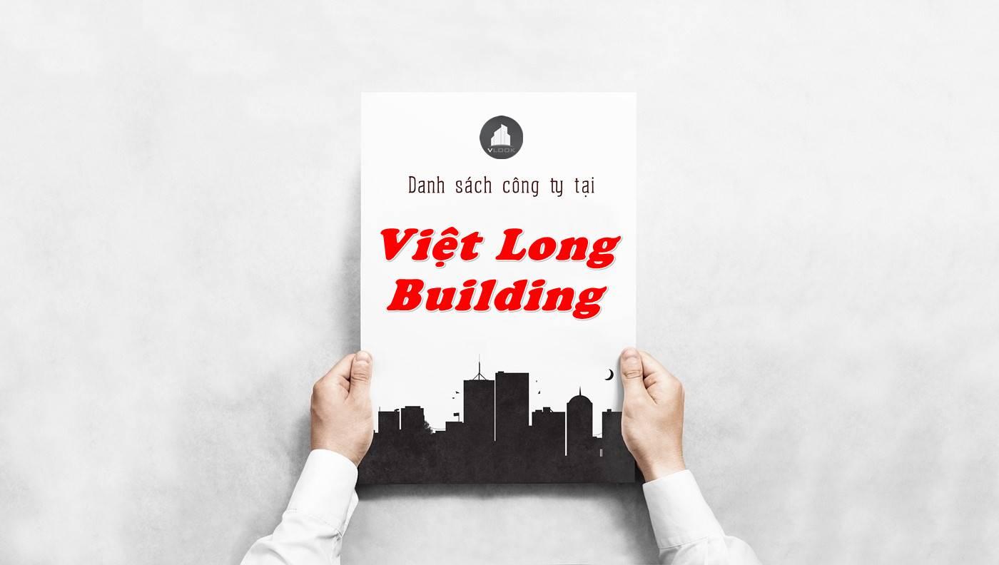 Danh sách công ty thuê văn phòng tại Việt Long Building, Quận 1