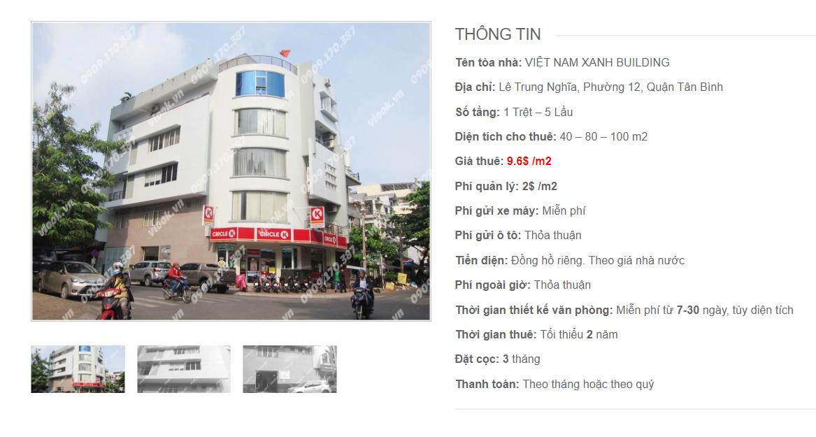 Danh sách công ty tại tòa nhà Việt Nam Xanh Building, Lê Trung Nghĩa, Quận Tân Bình