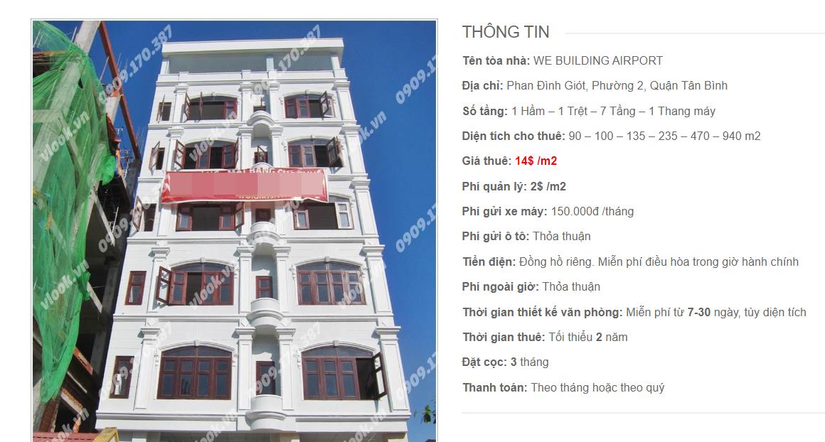 Danh sách công ty tại tòa nhà WE Building Airport, Phan Đình Giót, Quận Tân Bình