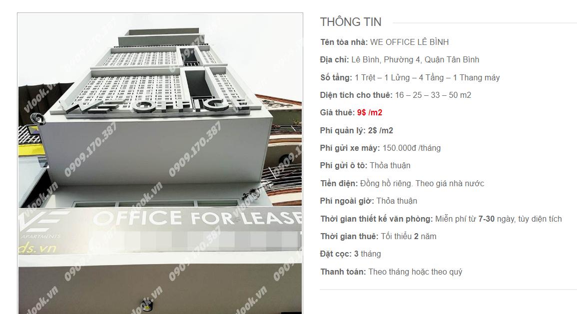 Danh sách công ty tại tòa nhà WE Office Lê Bình, Lê Bình, Quận Tân Bình