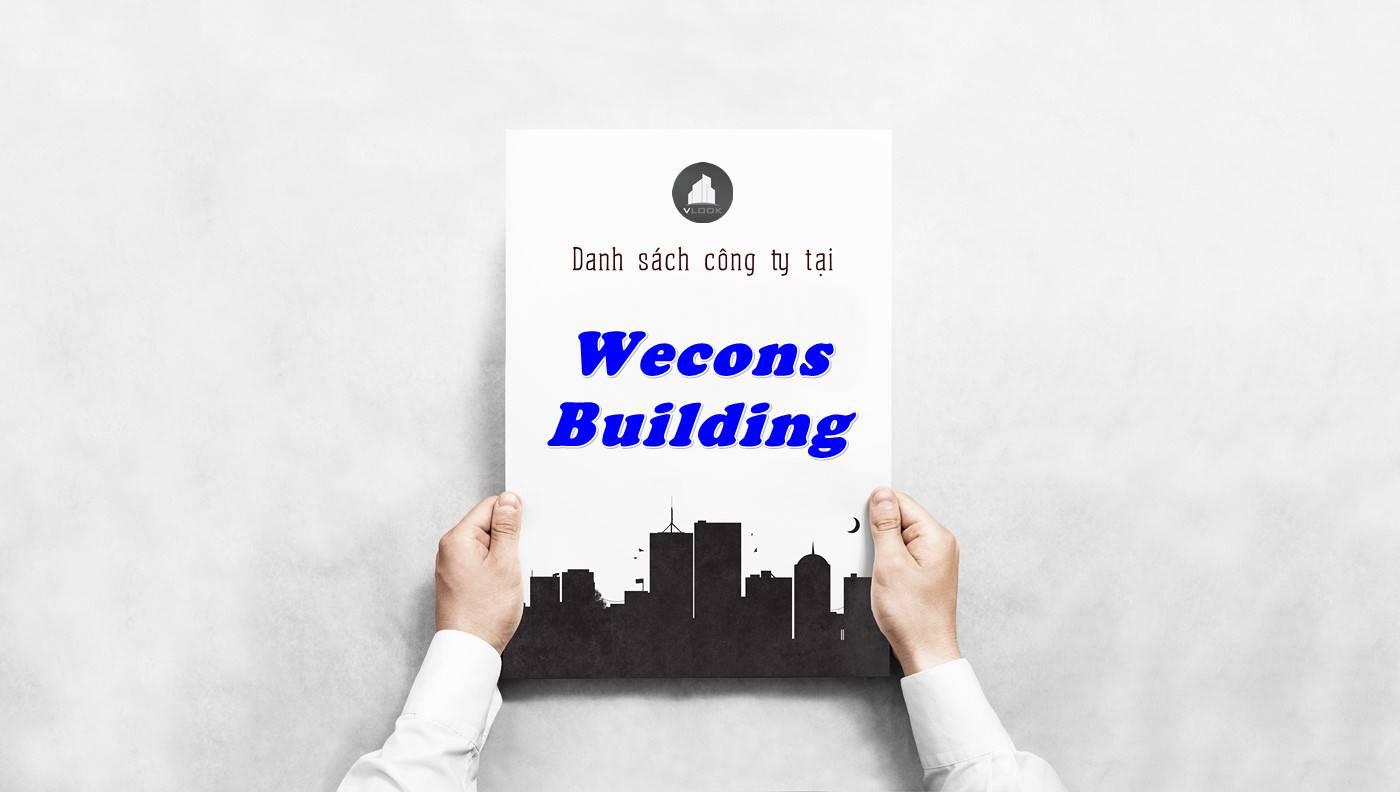 Danh sách công ty thuê văn phòng tại Wecons Building, Quận 1