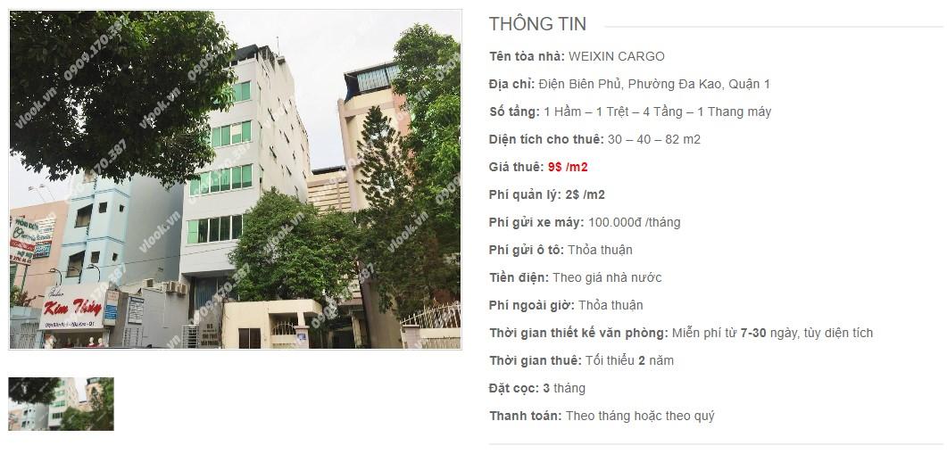 Danh sách công ty thuê văn phòng tại tòa nhà Weixin Cargo, Quận 1