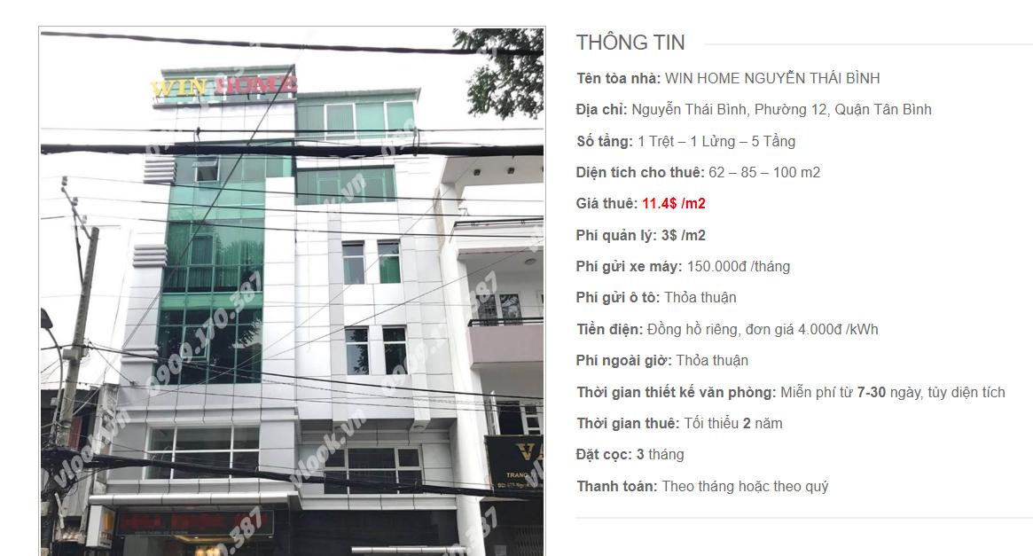 Danh sách công ty tại tòa nhà Win Home Nguyễn Thái Bình, Nguyễn Thái Bình, Quận Tân Bình