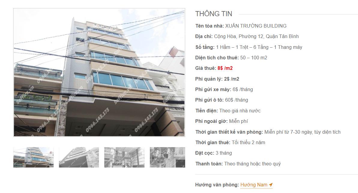 Danh sách công ty tại tòa nhà Xuân Trường Building, Cộng Hòa, Quận Tân Bình