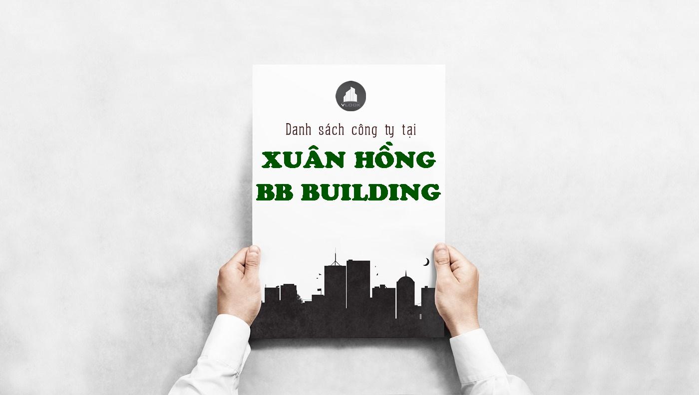 Danh sách công ty tại tòa nhà Xuân Hồng BB Building, Quận Tân Bình