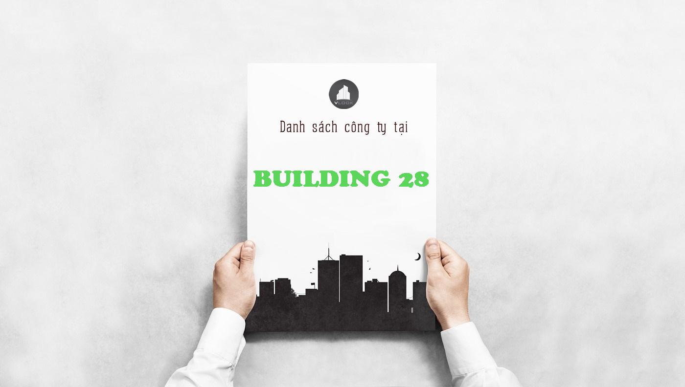 Danh sách công ty thuê văn phòng tại Building 28, Quận 7