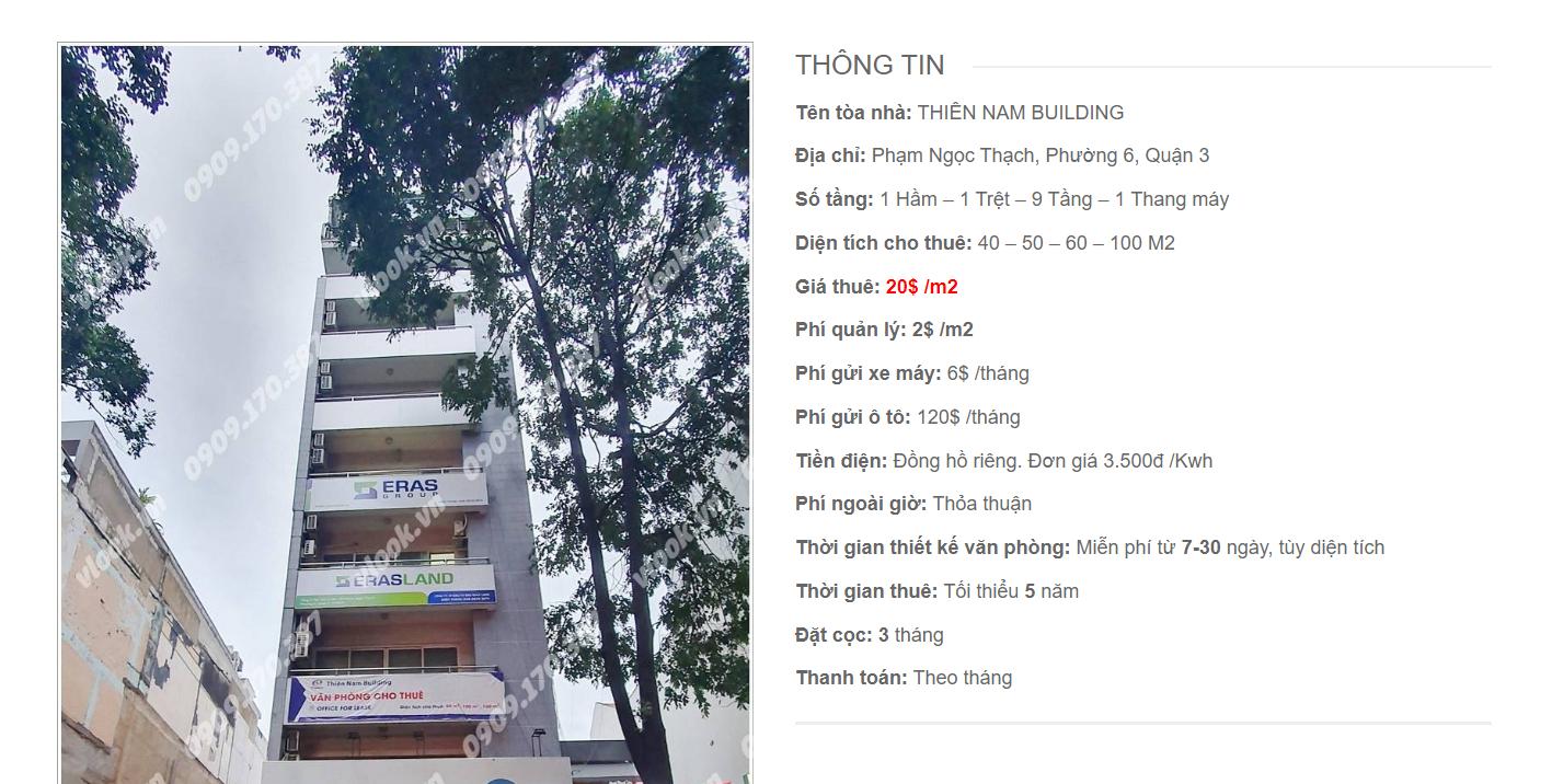 Danh sách công ty thuê văn phòng tại Thiên Nam Building, Phạm Ngọc Thạch, Quận 3