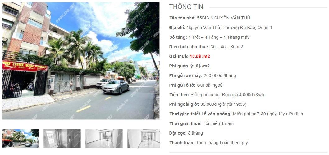Danh sách công ty thuê văn phòng tại 55Bis Nguyễn Văn Thủ, Quận 1