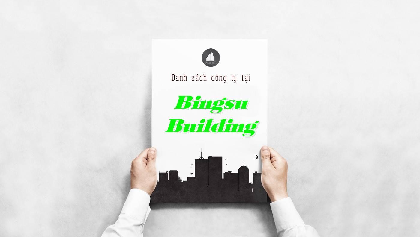 Danh sách công ty thuê văn phòng tại Bingsu Building, Quận 1