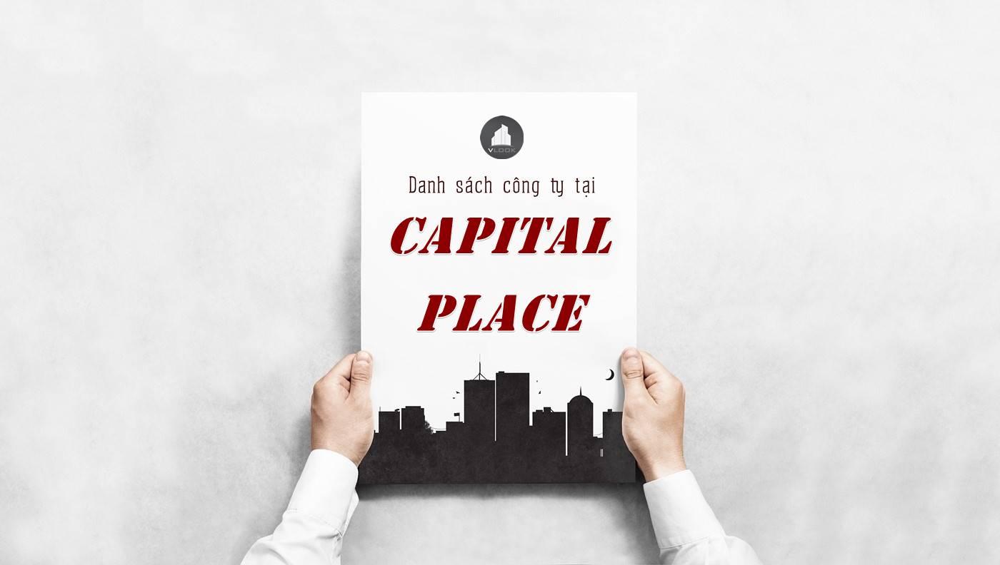Danh sách công ty thuê văn phòng tại tòa nhà Capital Place, Quận 1